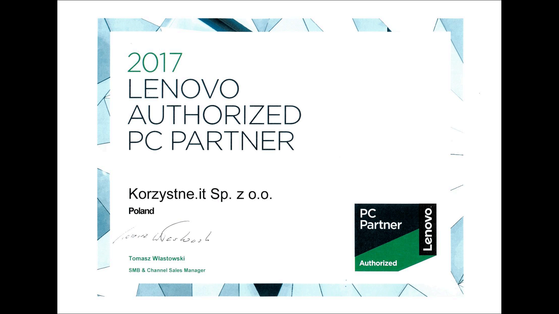 Korzystne.IT - Lenovo Authorized PC Partner