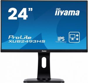 IIYAMA Monitor ProLite UltraSlim IPS FlickerFree BlueLightReducer [XUB2493HS-B1]