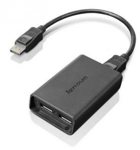 Lenovo - adapter z DispalyPort do 2x DisplayPort (F) [0B47092]