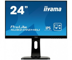 IIYAMA Monitor ProLite SPEAKERS,ULTRASLIM,USB  [XUB2492HSU-B1]