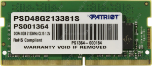 RAM DDR4 Patriot Signature 8GB 2133MHz [PSD48G213381S]