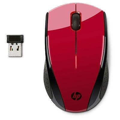 Mysz bezprzewodowa HP X3000, czerwona [N4G65AA]